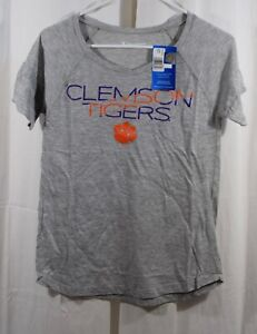 Champion-Clemson-Tigers-Short-Sleeve-V-Neck-Size-Small