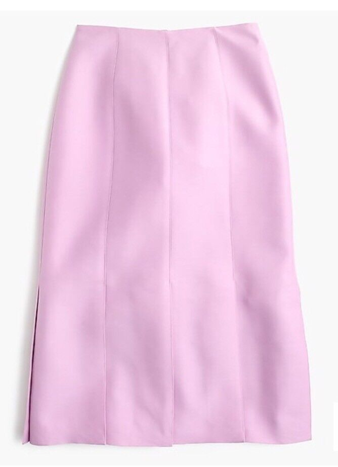 New J Crew Collection Italian Wool-silk Paneled Skirt Vivid purplec Sz 2 E8813