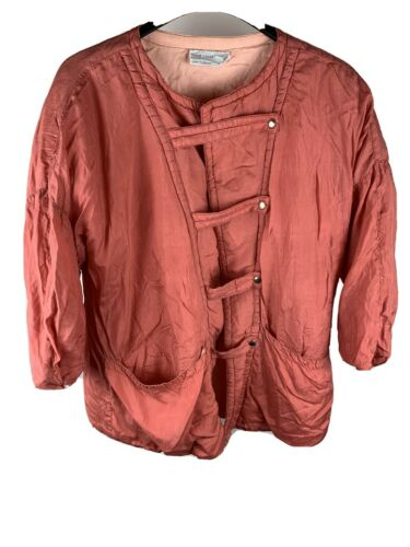 Vintage Womens Marie Claire Pink Jacket Made In Ca