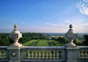 Canvas Parterre At Cliveden Manor Fashion Style Art Print Poster Buckinghamshire Selected Material