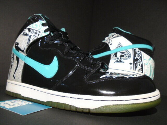 2006 NIKE SB DUNK HIGH PREMIUM Noir Blanc Azur DONTRELLE WILLIS DIAMOND 14