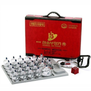 Hansol Professional Cupping Therapy Equipment 30 Cups Set with pumping handle &