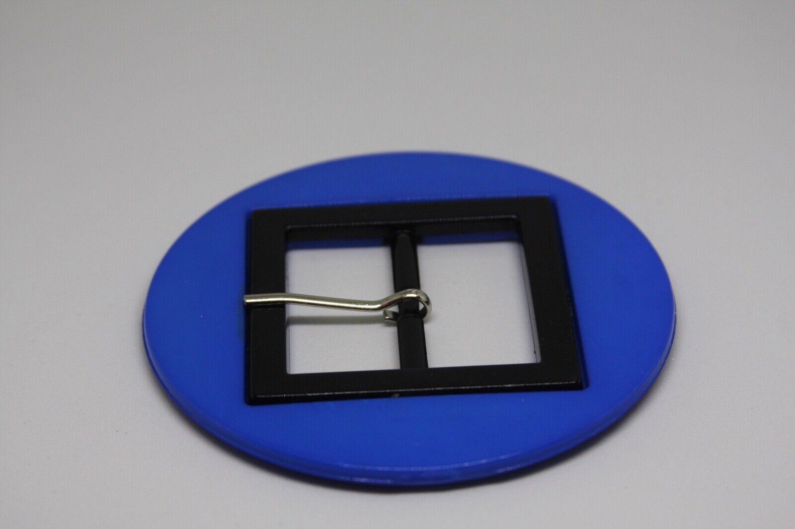 Woman`s blue color, plastic, Italy, belt buckle