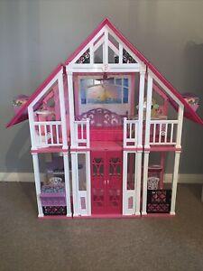 Bambola BARBIE MALIBU Dream House, mobili enorme SPEDIZIONE GRATUITA 🚚 💕