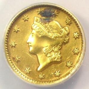 1851-D-Liberty-Gold-Dollar-G-1-ANACS-AU50-Details-Plugged-Dahlonega-Coin