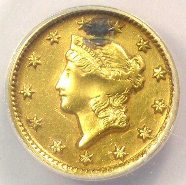 1851-D Liberty Gold Dollar G$1 - ANACS AU50 Details (Plugged) -  Dahlonega Coin!