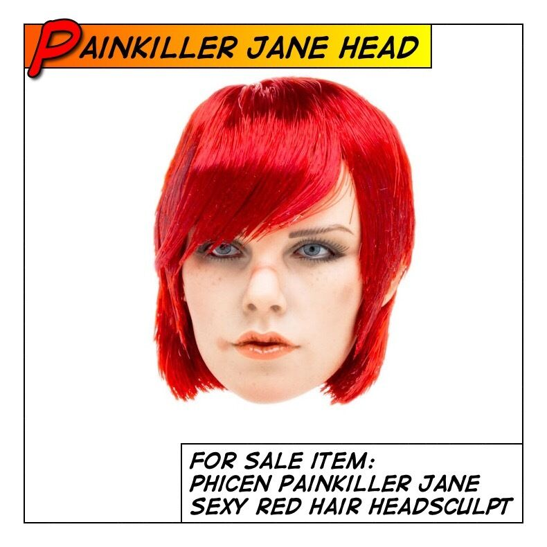 Phicen Painkiller Jane Hot Red Hair Head Sculpt for 1 6 12 in scale Female Toys