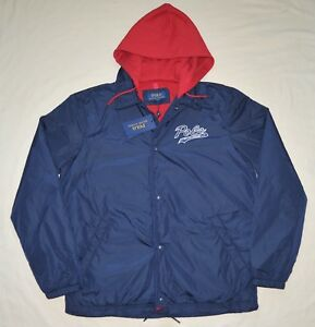 Jacket Polo Hooded Coach Ralph Navy Windbreaker Details About Xxl Coat New 2xl Men Lauren Blue 4ARLj35q