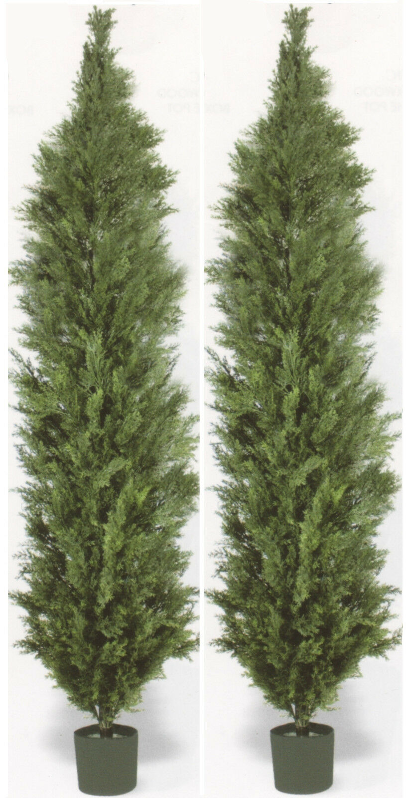 2 Artificial 10 ft Cedar Outdoor UV Topiary Tree Cypress Patio  7 8 9 Pool Fence