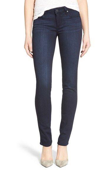 189 Paige Skyline Skinny Mid Rise Ankle Peg Transcend Egreenen Jeans Sz 28 NWT