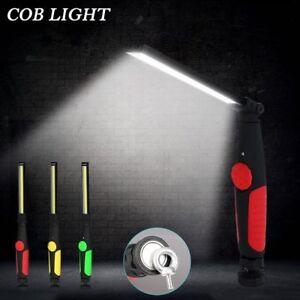 Luz-de-trabajo-LED-COB-recargable-USB-Coche-Antorcha-linterna-de-magneti-Bateria
