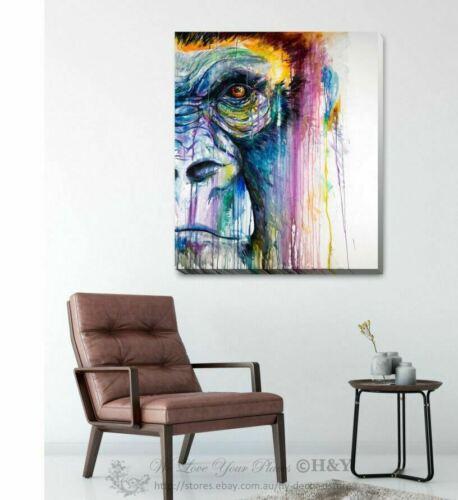 Gorilla King Kong Stretched Canvas Print Framed Wall Art Home Office Decor AM77