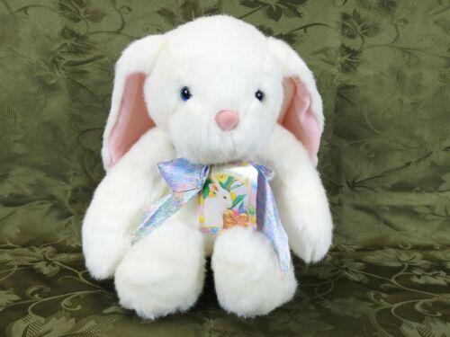 "Hallmark Cards White Easter Bunny /""Springer/"" Plush Rabbit 15/"" Tall Sits 11/'/' NWT"