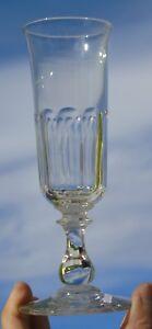 c01bdbde44a8ce Baccarat - Flûte à champagne en cristal, forme tulipe. XIXe s.   eBay