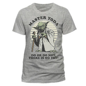 Star-Wars-Master-Yoda-T-Shirt-Official-Do-Or-Do-Not-Grey-NEW-SMALL