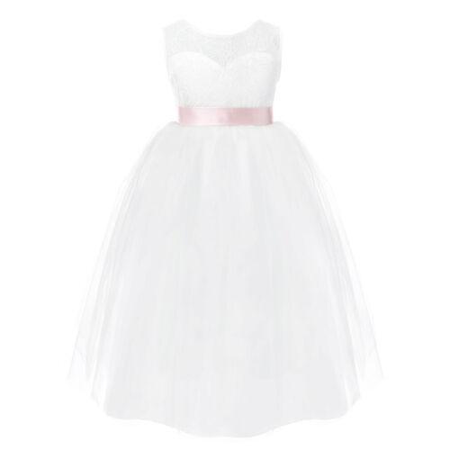 US Flower Girls Princess Dress Kids Formal Party Wedding Bridesmaid Tutu Dresses