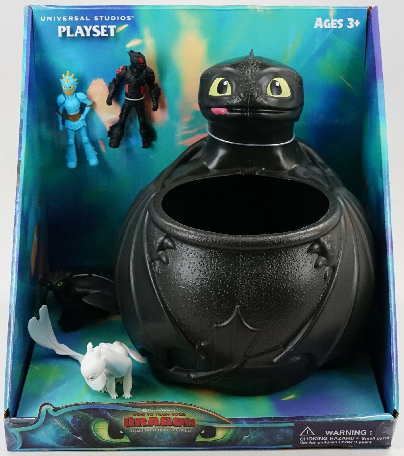 NEW Universal Dreamworks How To Train Your Dragon 3 Toothless Light Fury Playset