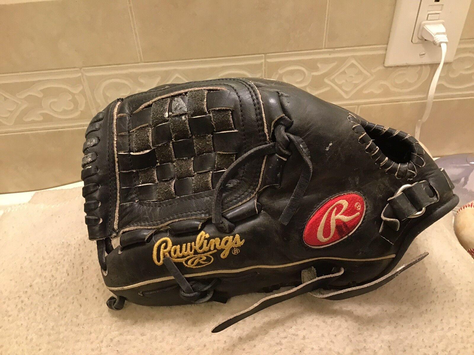 "Rawlings PRO1000BFB 12"" Baseball Softball HOH Pitcher's Glove Left Hand Throw"