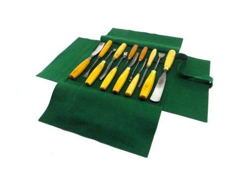 Greene Sleeves 13 & 25 Pocket Double Sided Felt Tool Rolls 100% Wool