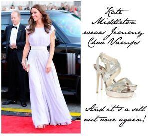 c391b570856 Jimmy Choo 37, Uk 4 Vamp Silver Glitter Heels, As Seen On Duchess ...