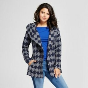 Women-039-s-Houndstooth-Small-S-Navy-Faux-Wool-Wrap-Xhilaration-Juniors-039-New
