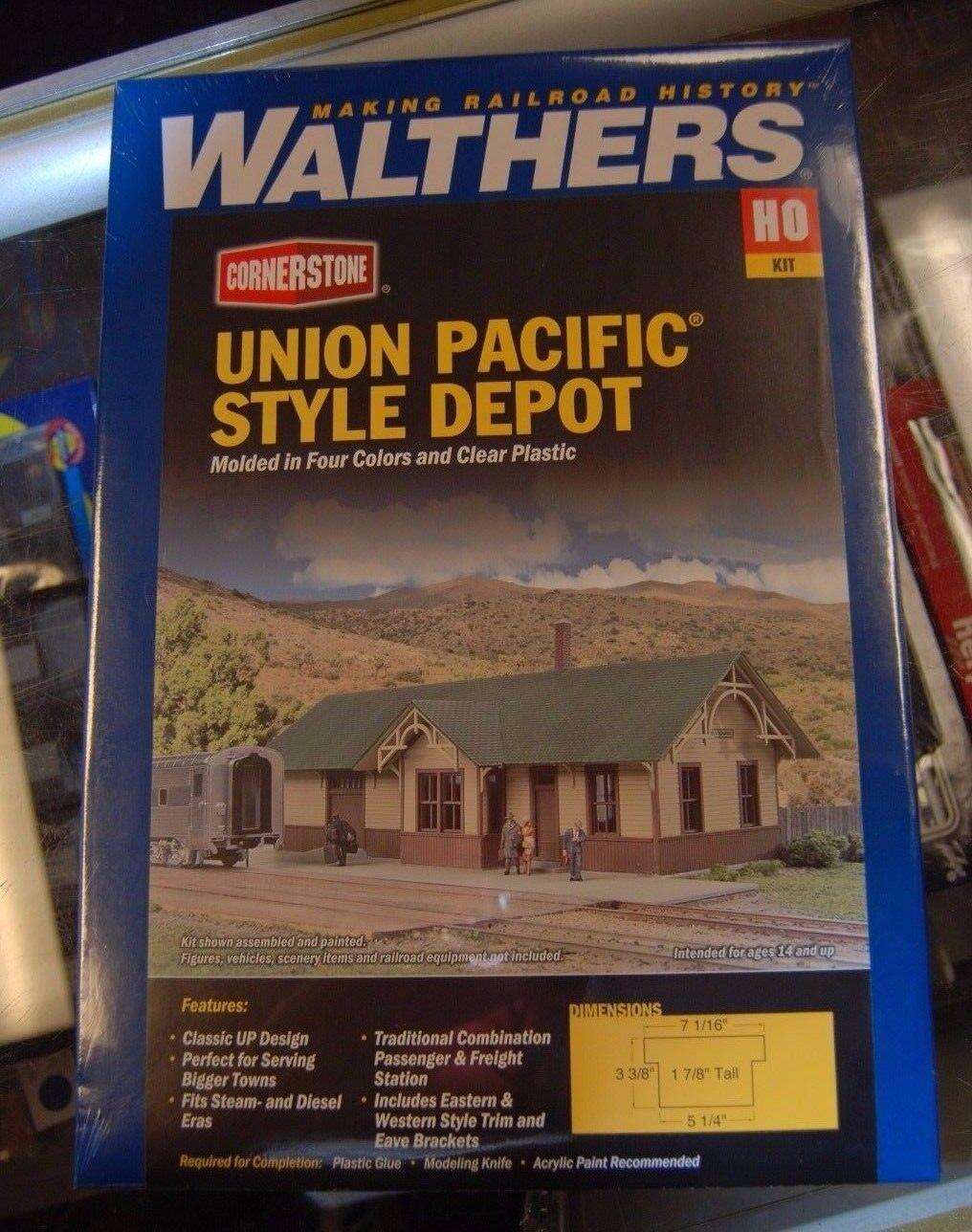 Ho Walthers Piedra Angular Kit 933-4057  Union Pacific estilo Depot  Nuevo en Caja
