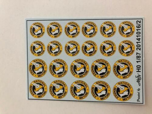 Benzolverband Mixture gelb Decals 1:87 oder H0