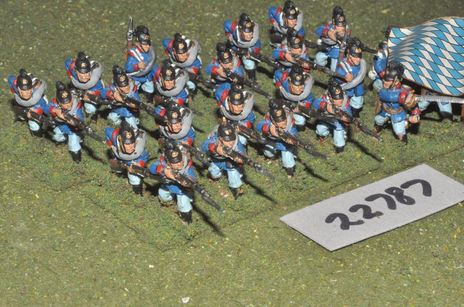 25mm colonial   bavarian - line 24 figs inf - inf (22787)