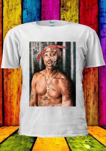 Tupac Shakur 2Pac Smoking Cool T-shirt Vest Tank Top Men Women Unisex 469