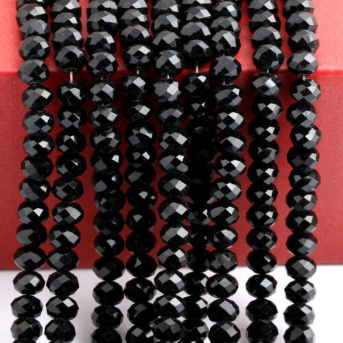 4-10MM Rondelle Faceted Crystal Glass Loose Spacer Beads Jewelry Makings Craft