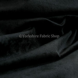 10-Metres-Of-Luxurious-Plump-Chenille-Invitingly-Soft-Upholstery-Fabric-In-Black