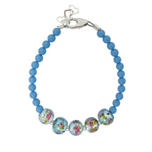 Turquise lampwork bead bracelet