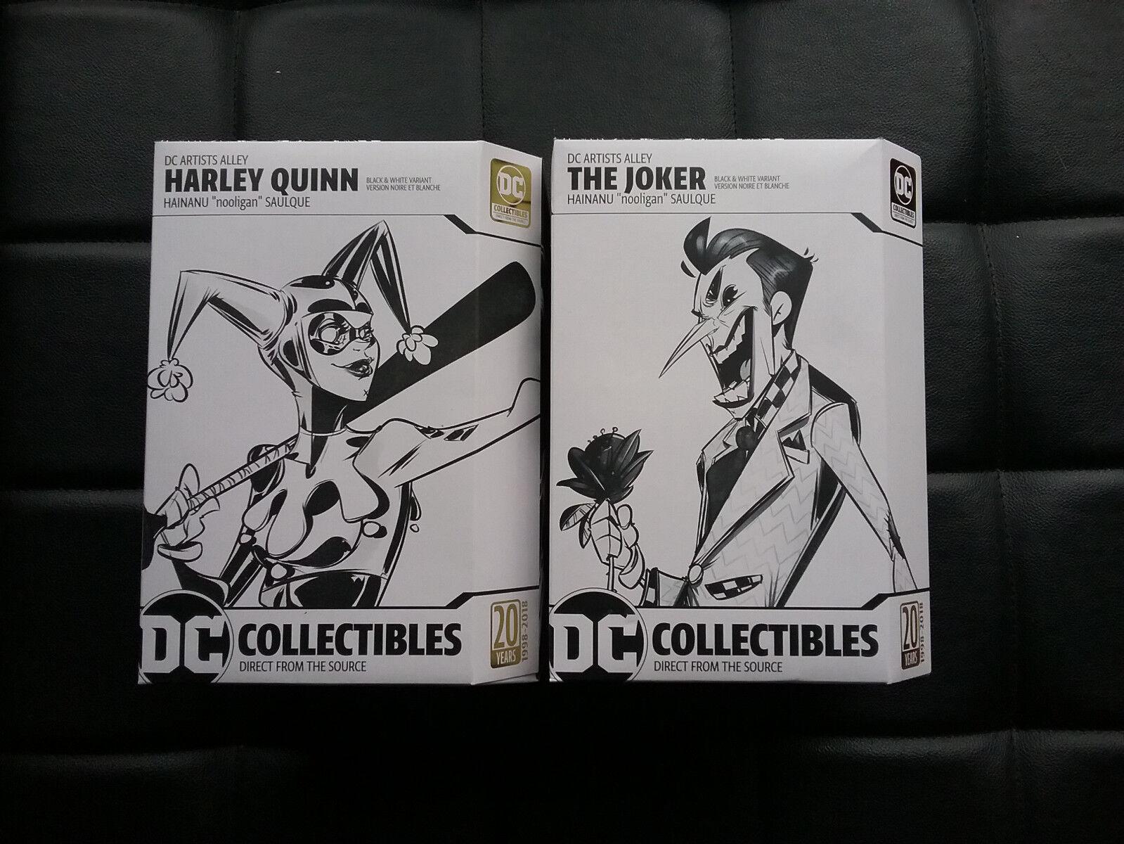 DC artista callejón Harley Quinn nightwing joker blancoo y Negro  nooligan  Conjunto de 3