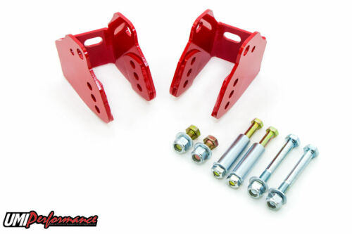 Red UMI 1978-1988 GM G-Body Rear Control Arm Relocation Brkts