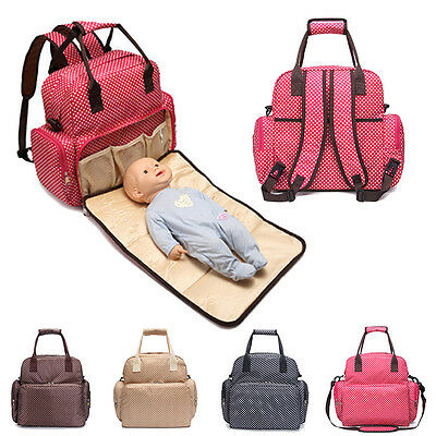 Multifunctional Baby Diaper Nappy Backpack Changing Bag Mummy Tote Shoulder Bags