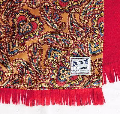 Duggie Harmony vintage British scarf gold Paisley pattern 1970s