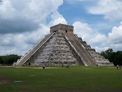 CHICHEN ITZA GLOSSY POSTER PICTURE PHOTO mexico maya clouds grass decor nice 717