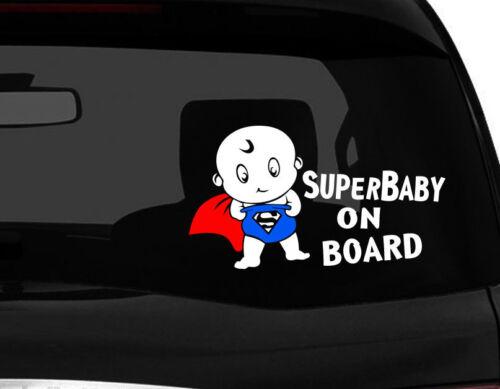 "Baby on Board car decal Sticker Superman sticker cute SuperBaby Multi 7.75/""W"