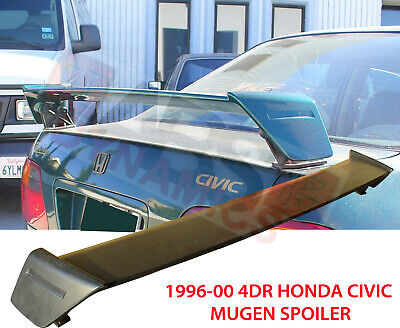 Fits 96-00 Honda Civic 2//4dr Mu-gen Style Trunk Spoiler Wing ABS