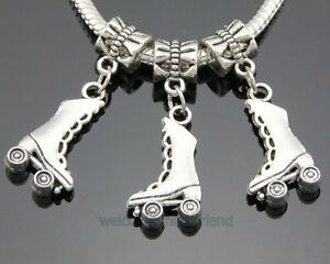 Roller Skate Charm fits European and Brand Bracelets Roller Skate Charm Bracelet Roller Skate Dangle Charm Roller Skate Charm Bead