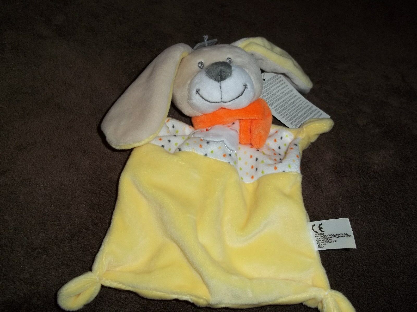 NICOTOY  BY SIMBA TOYS YELLOW BUNNY COMFORTER BRAND NEW WITH TAG