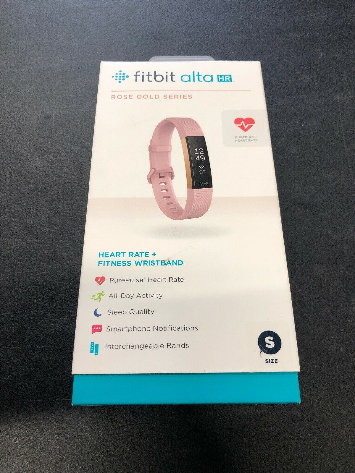 FitBit Alta HR pink gold Series Fitness Wristband Watch Pre-owned