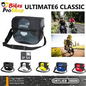 NEW-2018-ORTLIEB-Ultimate-6-Classic-M-L-Handlebar-Bag-100-IP54-WATERPROOF
