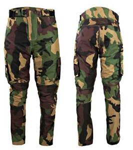 Camo-CE-Armour-Textile-Waterproof-Motorbike-Motorcycle-Trousers-Jeans-Pants-Army
