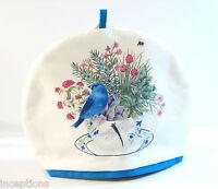 Alice's Cottage Cotton Tea Cozy Blue Bunting Bird -