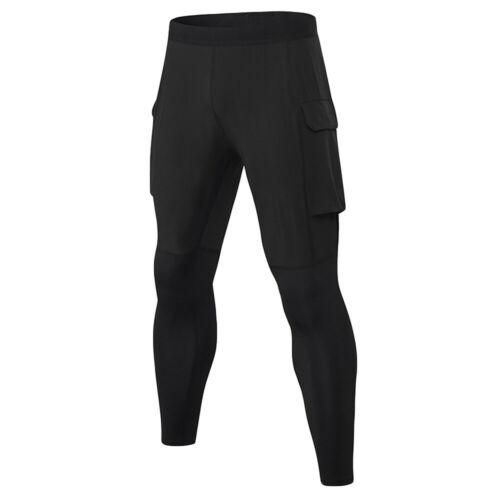 Men Quick Dry Tights Training Trousers With Pockets Fitness Pants Sports Running
