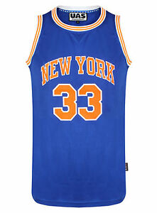 d874cce4e11c Mens New York 33 Basketball Jersey Gym Muscle Vest Summer Top T ...