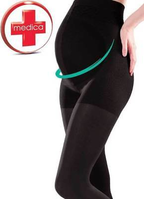 100 Denier Comfortable Maternity Leggings M/l Pregnancy Medica Black Gabriella Buy One Give One