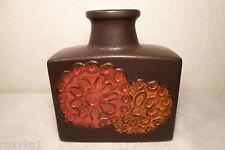 schöne alte Vase Scheurich 281-19 braun rot 70er / 80er Jahre 19,4 cm hoch
