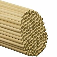 Wooden Dowel Rods - 3/8 X 12 Unfinished Hardwood Sticks For Crafts And Diy
